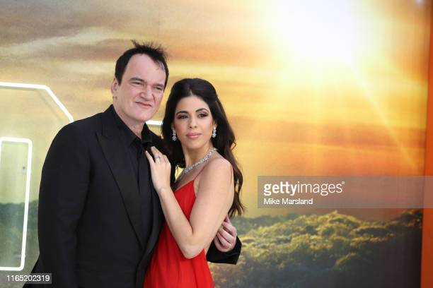 Quentin Tarantino and Daniella Tarantino attend the Once Upon A Time In Hollywood UK Premiere at Odeon Luxe Leicester Square on July 30 2019 in...