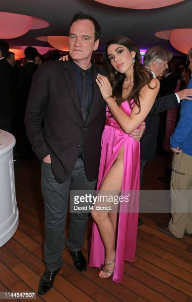 Quentin Tarantino and Daniella Tarantino attend the Vanity Fair and Chopard Party celebrating the 72nd Annual Cannes Film Festival at Hotel du...