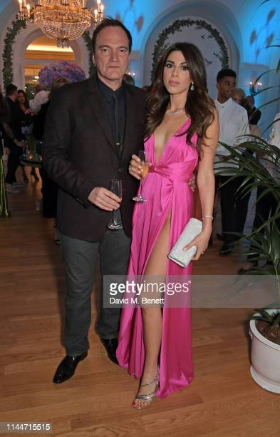 Quentin Tarantino and Daniella Tarantino attend the Vanity Fair party celebrating the 72nd Annual Cannes Film Festival at Hotel du CapEdenRoc on May...
