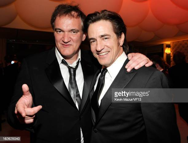 Quentin Tarantino and Dermott Mulroney attends the 2013 Vanity Fair Oscar Party hosted by Graydon Carter at Sunset Tower on February 24 2013 in West...
