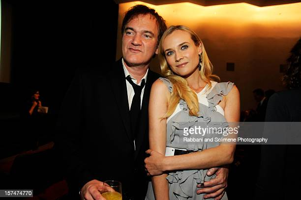 Quentin Tarantino and Diane Kruger attends The Museum of Modern Art 5th annual Film Benefit honoring Quentin Tarantino at MOMA on December 3 2012 in...