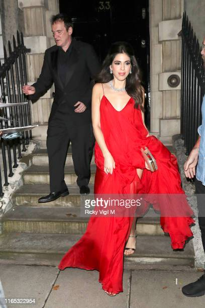 Quentin Tarantino and his wife Daniella Pick seen attending Once Upon A Time In Hollywood UK film premiere after party on July 30 2019 in London...