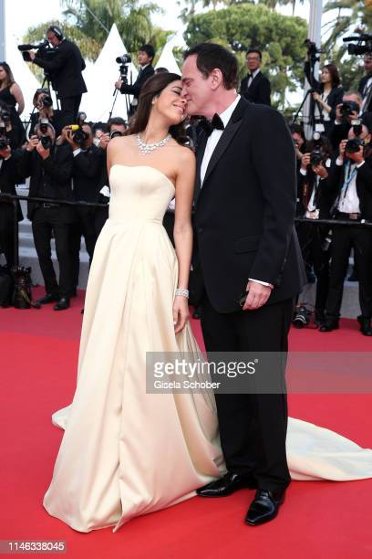 "Quentin Tarantino and his wife Daniella Tarantino attend the closing ceremony screening of ""The Specials"" during the 72nd annual Cannes Film Festival..."