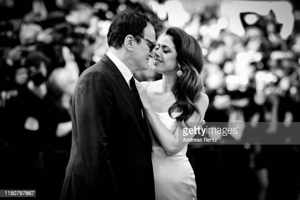 Quentin Tarantino and his wife Israeli singer Daniella Tarantino attend the screening of Once Upon A Time In Hollywood during the 72nd annual Cannes...