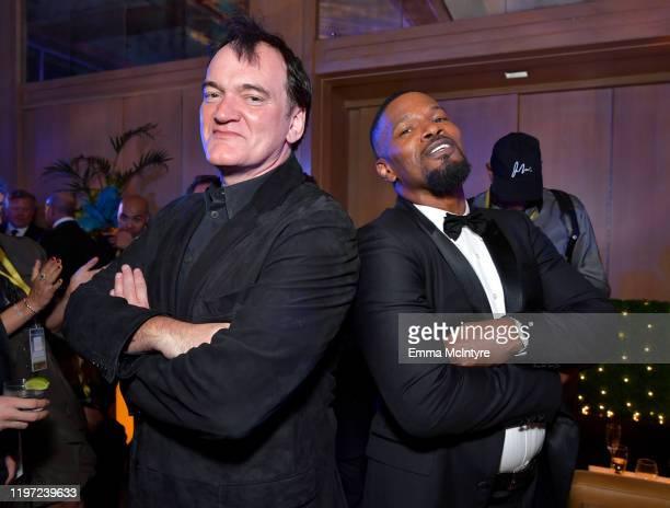 Quentin Tarantino and Jamie Foxx attend the After Party for the 31st Annual Palm Springs International Film Festival Film Awards Gala at Palm Springs...