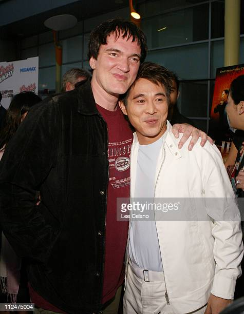 "Quentin Tarantino and Jet Li during ""Hero"" Los Angeles Premiere - Red Carpet at ArcLight Cinemas in Hollywood, California, United States."