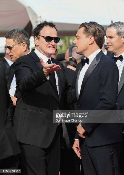 Quentin Tarantino and Leonardo DiCaprio attend the screening of Once Upon A Time In Hollywood during the 72nd annual Cannes Film Festival on May 21...