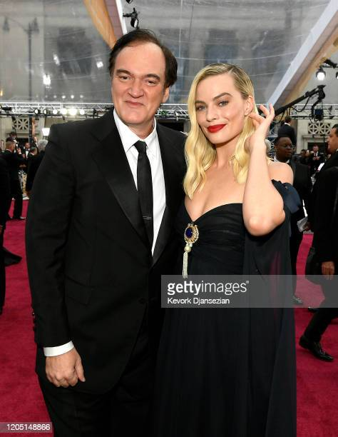 Quentin Tarantino and Margot Robbie attend the 92nd Annual Academy Awards at Hollywood and Highland on February 09 2020 in Hollywood California