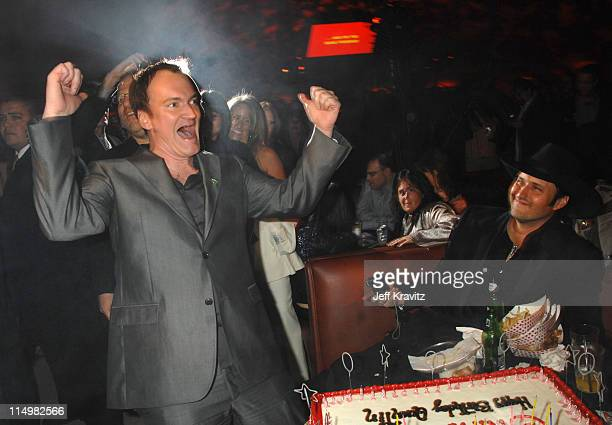 Quentin Tarantino and Robert Rodriguez during Grindhouse Los Angeles Premiere After Party in Los Angeles California United States