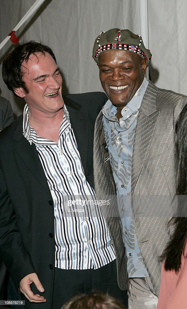 Quentin Tarantino and Samuel L. Jackson, host during The 20th Annual IFP Independent Spirit Awards - Green Room in Santa Monica, California, United States.