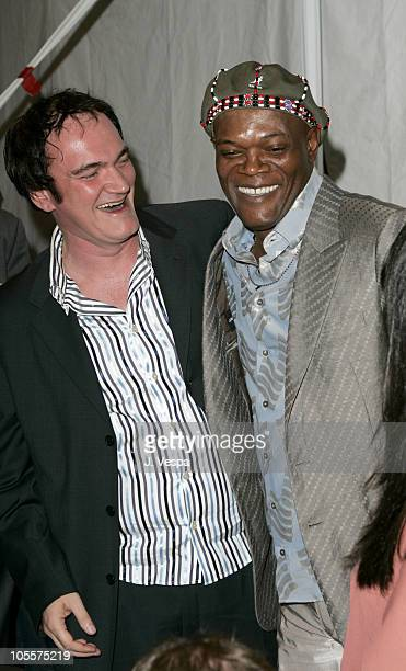 Quentin Tarantino and Samuel L. Jackson, host during The 20th Annual IFP Independent Spirit Awards - Green Room in Santa Monica, California, United...