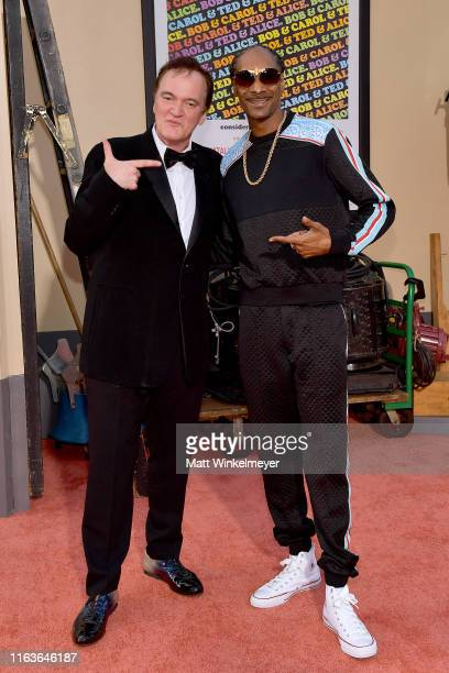 Quentin Tarantino and Snoop Dogg attend Sony Pictures' Once Upon A TimeIn Hollywood Los Angeles Premiere on July 22 2019 in Hollywood California
