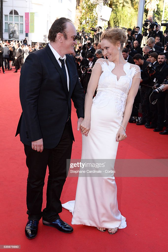 Quentin Tarantino and Uma Thurman at the Closing ceremony and 'A Fistful of Dollars' screening during 67th Cannes Film Festival