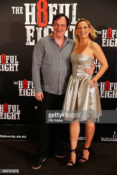Quentin Tarantino And Zoe Bell Pose As They Arrive Ahead Of The New Zealand Premiere Of