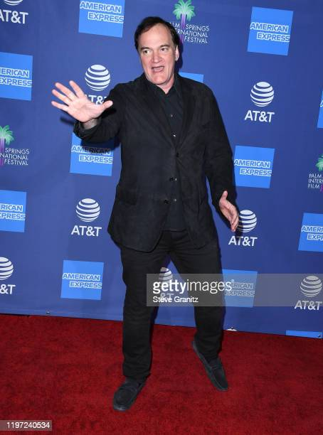 Quentin Tarantino arrives at the Annual Palm Springs International Film Festival Film Awards Gala on January 02 2020 in Palm Springs California