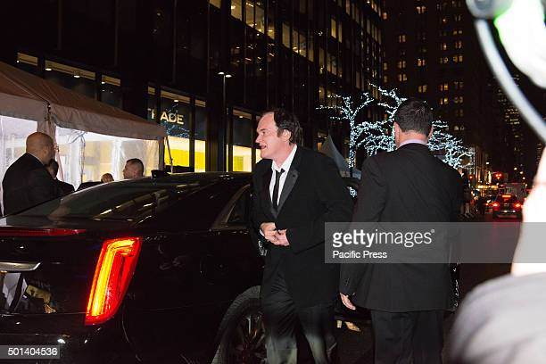 Quentin Tarantino arrives at the premiere of 'Hateful Eight' At the premiere of his new film 'Hateful Eight' at the historic Ziegfeld Theater in...
