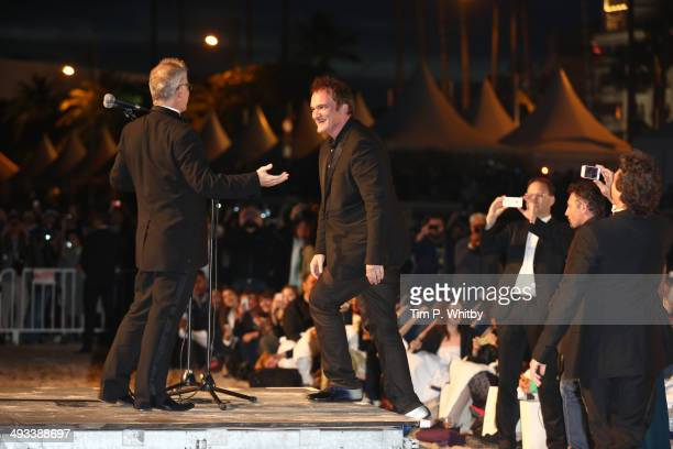 Quentin Tarantino attends a screening of Pulp Fiction at the 67th Annual Cannes Film Festival on May 23 2014 in Cannes France