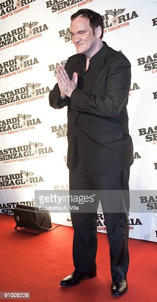 Quentin Tarantino attends Inglourious Basterds Premiere at the Warner Cinema on September 21 2009 in Rome Italy