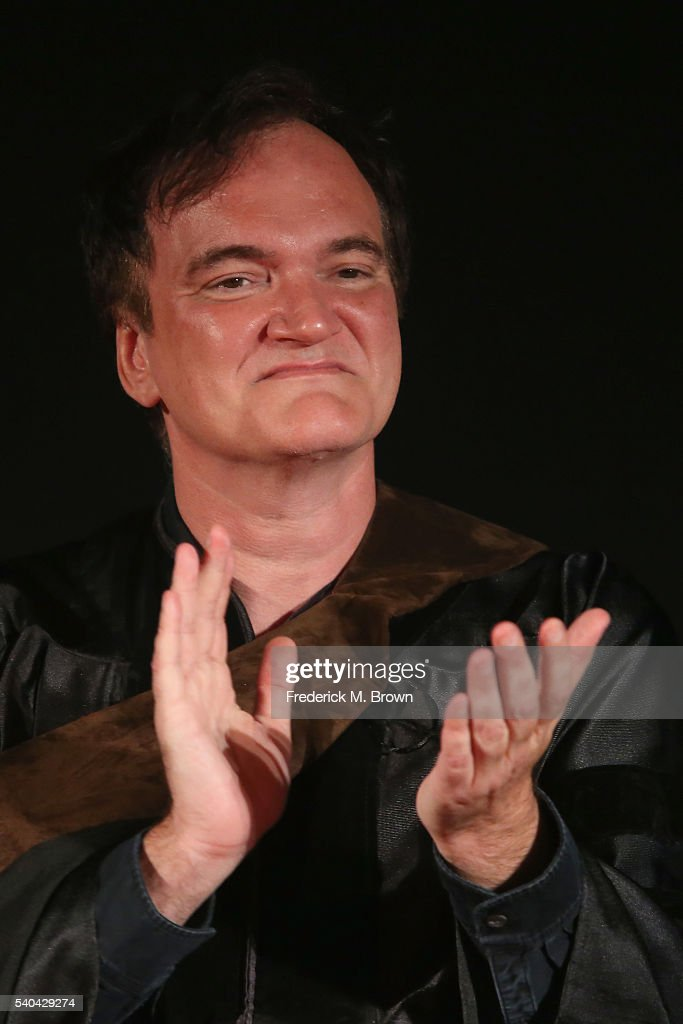 Quentin Tarantino attends the 2016 AFI Conservatory commencement ceremony at TCL Chinese Theatre on June 15, 2016 in Hollywood, California. The American Film Institute is granting honorary degrees to Rita Moreno and Quentin Tarantino for their contributions to the cinematic arts.
