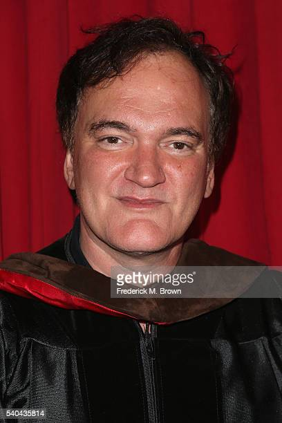 Quentin Tarantino attends the 2016 AFI Conservatory commencement ceremony at TCL Chinese Theatre on June 15 2016 in Hollywood California The American...
