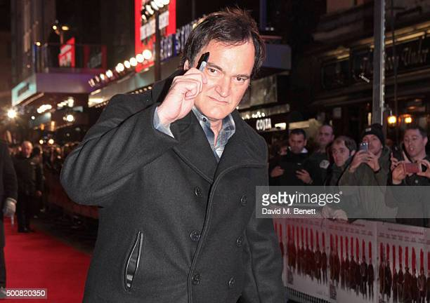 Quentin Tarantino attends the European Premiere of 'The Hateful Eight' at Odeon Leicester Square on December 10 2015 in London England