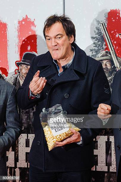 Quentin Tarantino attends the European Premiere of The Hateful Eight at Odeon Leicester Square on December 10 2015 in London England