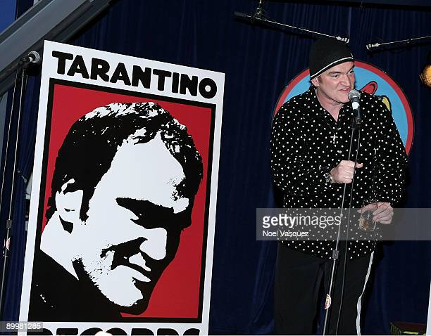Quentin Tarantino attends the Inglourious Basterds soundtrack autograph session at Amoeba on August 20 2009 in Los Angeles California