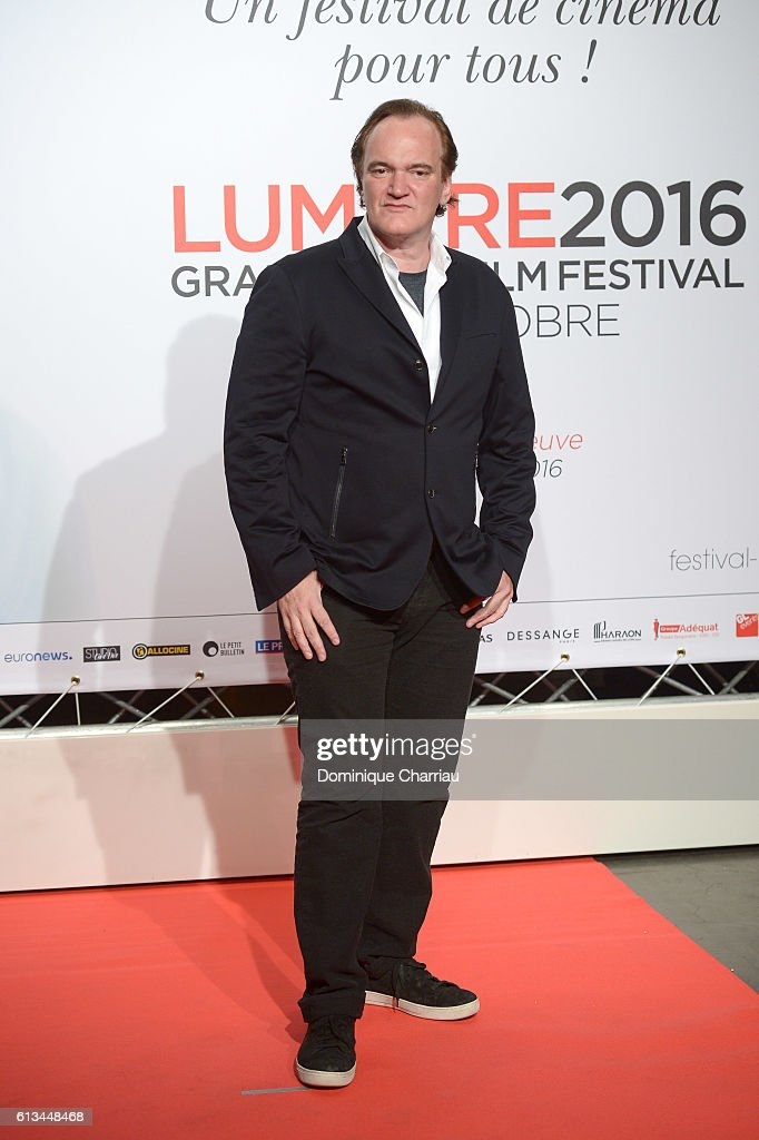 Quentin Tarantino attends the opening ceremony of the 8th Film Festival Lumiere on October 8, 2016 in Lyon, France.