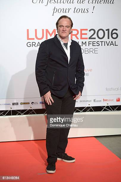 Quentin Tarantino attends the opening ceremony of the 8th Lumiere Film Festival in Lyon on October 8 2016 in Lyon France