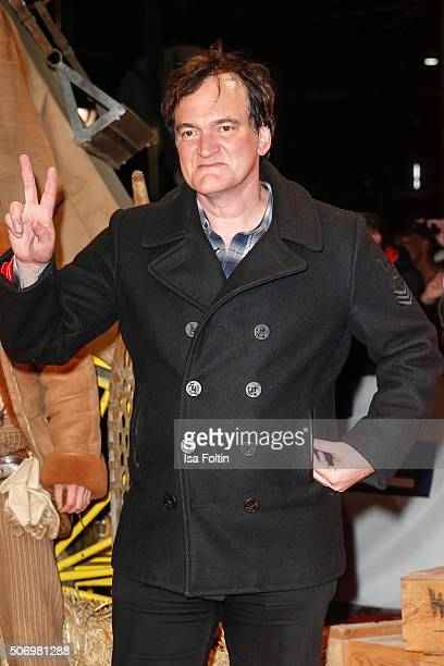 Quentin Tarantino attends the premiere of 'The Hateful 8' at Zoo Palast on January 26, 2016 in Berlin, Germany.