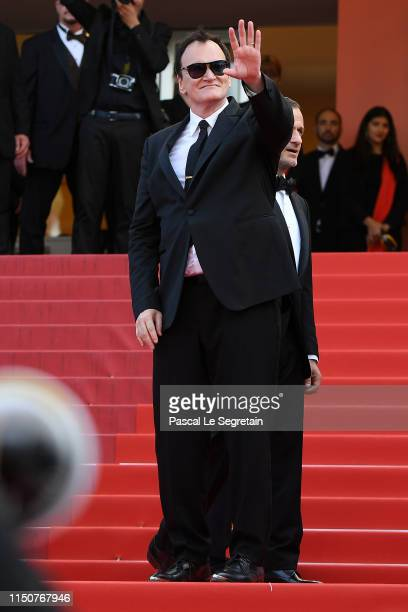 Quentin Tarantino attends the screening of Once Upon A Time In Hollywood during the 72nd annual Cannes Film Festival on May 21 2019 in Cannes France