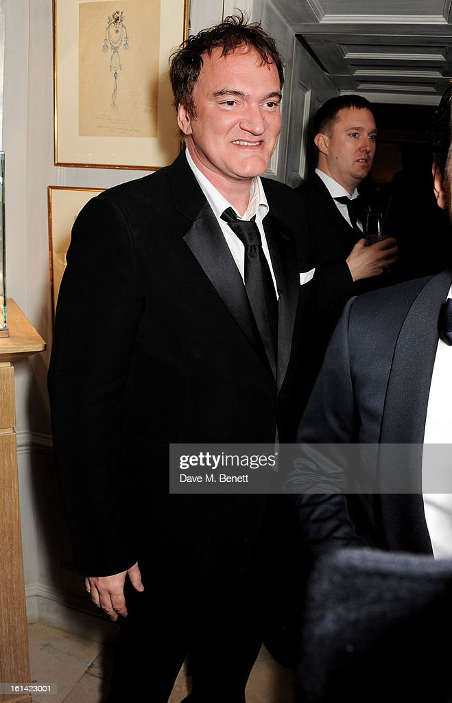 Quentin Tarantino attends The Weinstein Company and Entertainment Film Distributors Post-BAFTA Party hosted by Chopard and Grey Goose at LouLou's on February 10, 2013 in London, England.