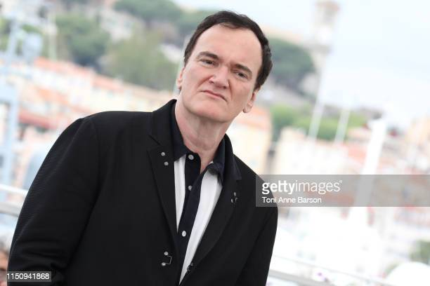 Quentin Tarantino attends thephotocall for Once Upon A Time In Hollywood during the 72nd annual Cannes Film Festival on May 22 2019 in Cannes France
