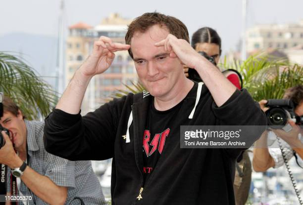 Quentin Tarantino during 2007 Cannes Film Festival Death Proof Photocall at Palais des Festival in Cannes France