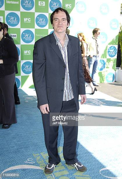 Quentin Tarantino during 20th IFP Independent Spirit Awards Arrivals at Santa Monica Beach in Santa Monica California United States
