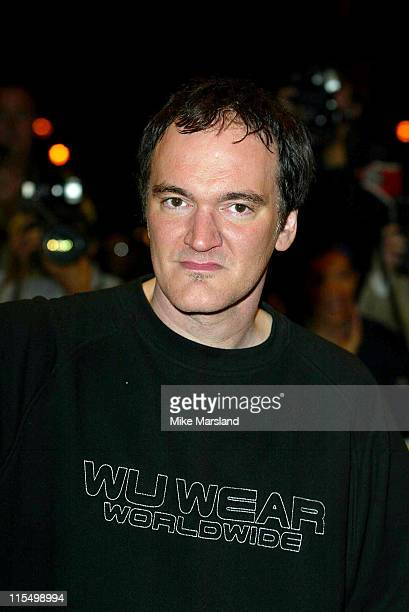 Quentin Tarantino during 'Kill Bill Vol 1' London Premiere Arrivals at The Odeon Leicester Square in London Great Britain