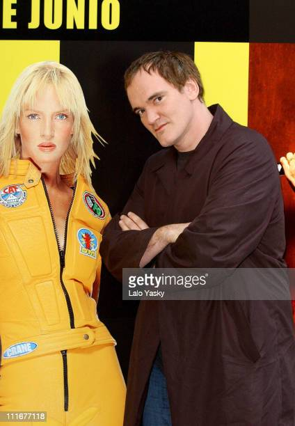 Quentin Tarantino during 'Kill Bill Volume 2' Photocall at Ritz Hotel in Madrid Spain
