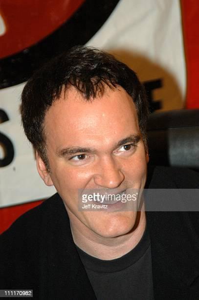 Quentin Tarantino during Maverick Records Presents Quentin Tarantino Kill Bill Volume 1 CD Signing at Virgin Megastore at Virgin Megastore in Los...