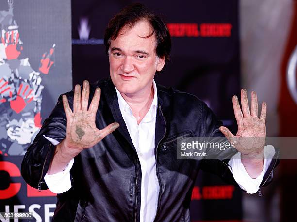 Quentin Tarantino Immortalized With Hand And Footprint Ceremony at TCL Chinese Theatre on January 5 2016 in Hollywood California