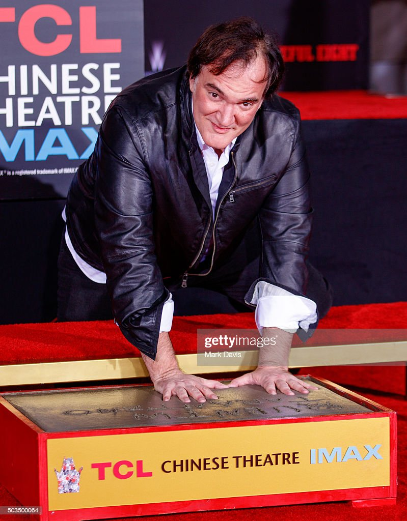Quentin Tarantino Immortalized With Hand And Footprint Ceremony at TCL Chinese Theatre on January 5, 2016 in Hollywood, California.