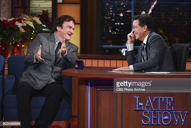 Quentin Tarantino on The Late Show with Stephen Colbert Tuesday Dec 15 2015 on the CBS Television Network