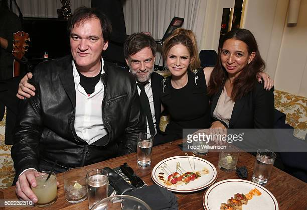 Quentin Tarantino Paul Thomas Anderson Jennifer Jason Leigh and Maya Rudolph attend and event To Celebrate Quentin Tarantino And The Cast Filmmakers...
