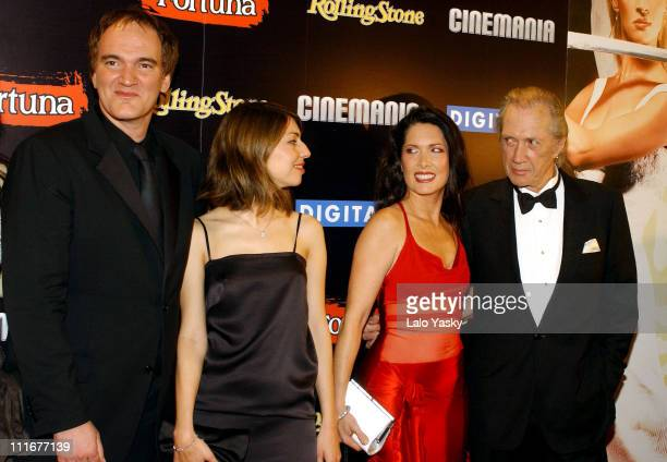 Quentin Tarantino Sofia Coppola Annie Bierman and David Carradine