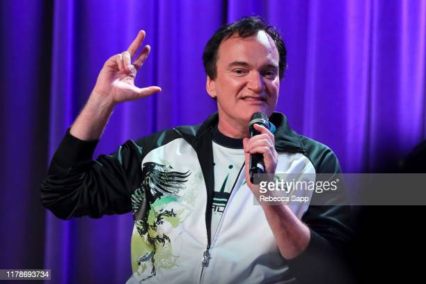 Quentin Tarantino speaks onstage at Once Upon A Time In Hollywood: An Evening With Quentin Tarantino & Friends at the GRAMMY Museum on October 02,...