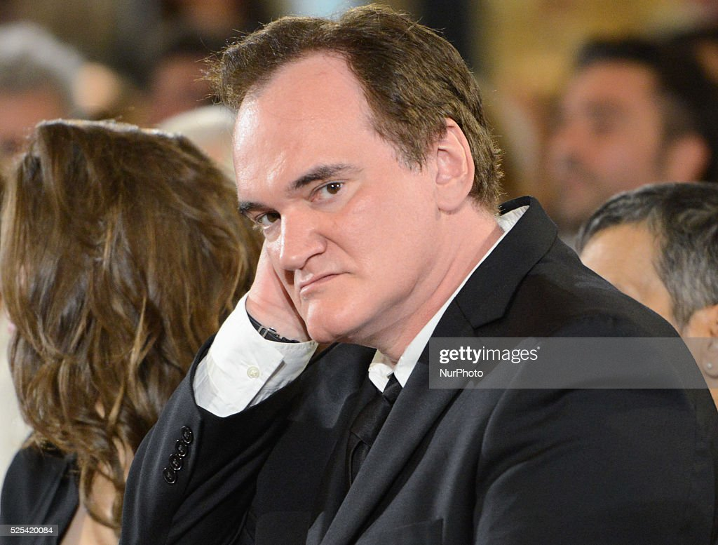 Quentin Tarantino to attend the David Di Donatello awardening ceremony, at the Quirinal on June 12, 2015