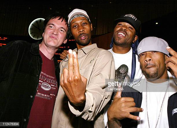 Quentin Tarantino with members of WuTan Clan RZA Method Man and Redman