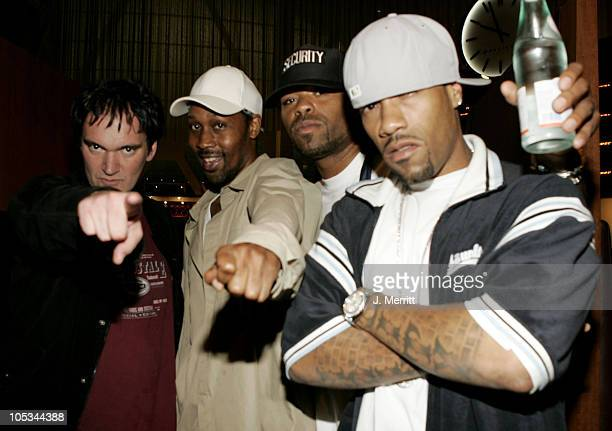 Quentin Tarantino with members of WuTang Clan RZA Method Man and Redman