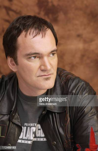 Quentin Tarantino writer/director during 'Kill Bill Vol 1' Press Conference with Quentin Tarantino at The Four Seasons Hotel in Beverly Hills...