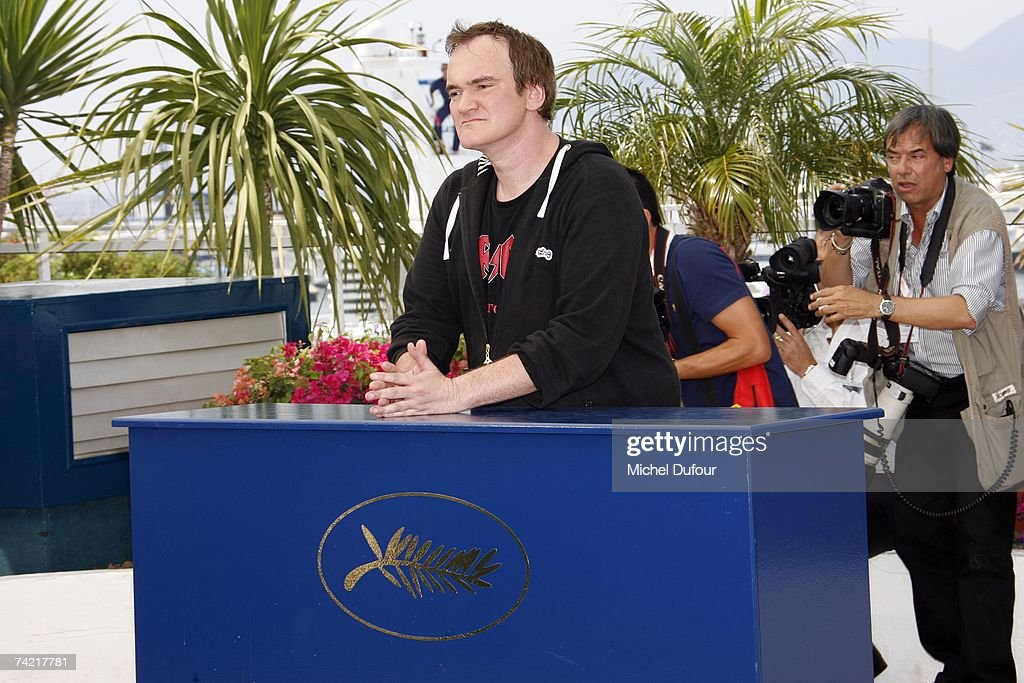 Quentin Tarentino attends the Death Proof Photocall at the Cannes Film Festival on May 22, 2007 in Cannes France.