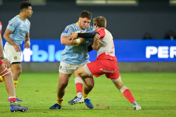 Quentin WALCKER of Perpignan during the Pro D2 match between Perpignan and Biarritz at Stade Aime Giral on April 8, 2021 in Perpignan, France. (Photo by Alexandre Dimou/Icon Sport via Getty Images)